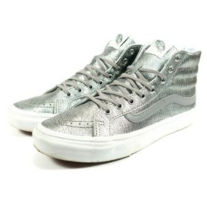 Vans Classic SK8 Hi High Top Silver Sneakers